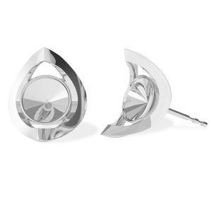 Redondo aretes, plata 925, ODL-00360 KLS (1122 SS 29)