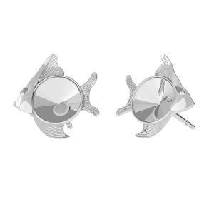 Pescado aretes, plata 925, ODL-00361 KLS (1122 SS 29)