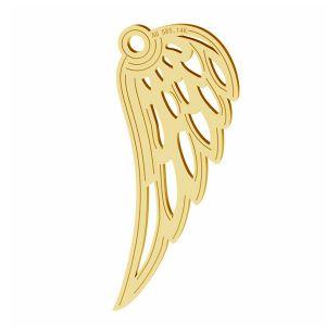 Alas de angel colgante, oro 14K, LKZ-01305 - 0,30