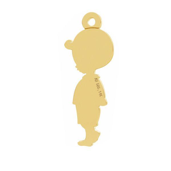 Chico colgante, oro 14K, LKZ-01284 - 0,30