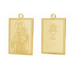 Nuestro medallón de la señora Fatima colgante, oro 14K, LKZ-01373 - 0,30