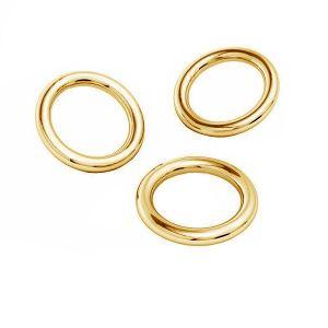 Oro anillas AU 585 14K, KC-0,80x2,15