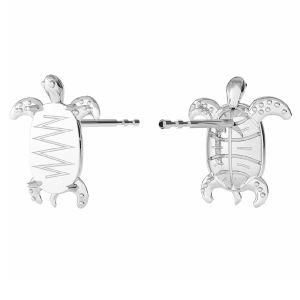 Pendientes de tortuga, plata 925, ODL-00368 KLS (2602 MM 8,0X 5,5)