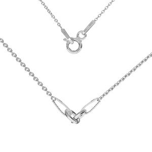 Base de collar, plata 925, S-CHAIN 2 (A 030)