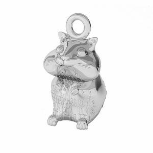 Hámster colgante, plata 925, ODL-00375