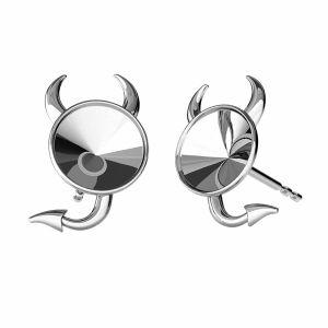 Redondo aretes, plata 925, ODL-00377 KLS (1122 SS 29)