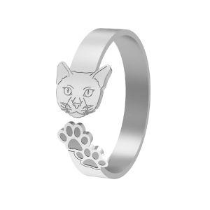 Gato anillo, plata 925, LK-1402 - 0,50