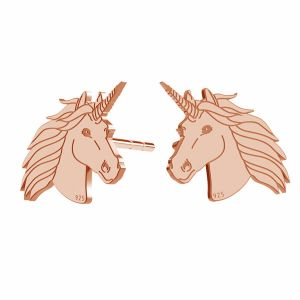 Unicornio aretes, plata 925, LK-1397 KLS - 0,50