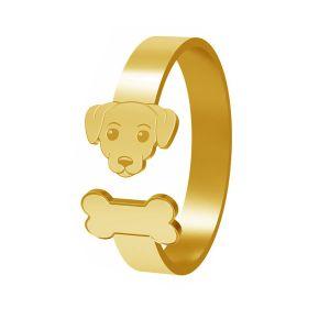 Perro anillo, plata 925, LK-1403 - 0,50