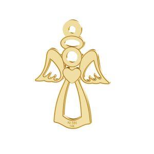 Ángel colgante, oro 14K, LKZ-00332 - 0,30