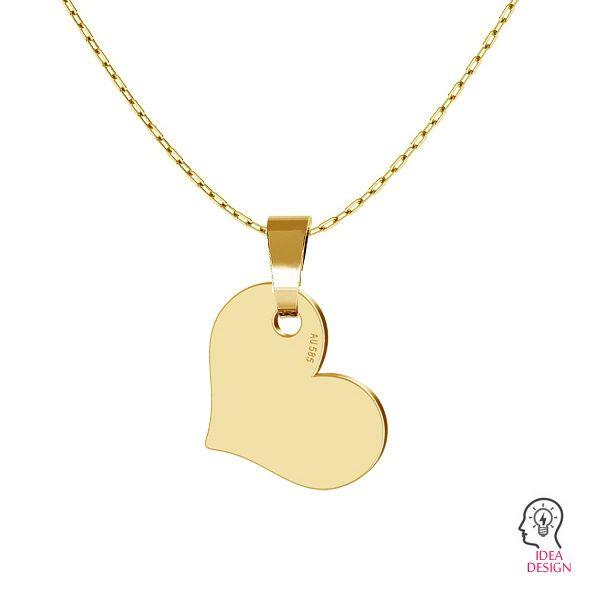 Corazón colgante oro 14K LKZ-00573 - 0,30