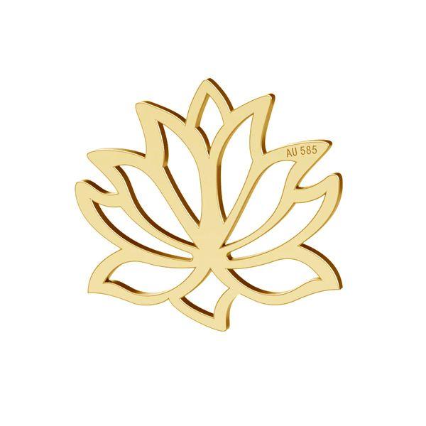 Loto flor colgante oro 14K LKZ-00771 - 0,30