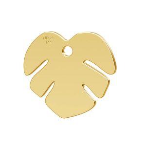 Loto flor colgante oro 14K LKZ-00809 - 0,30