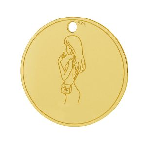 Colgante Virgo zodíaco, plata 925, LK-1452 - 0,50