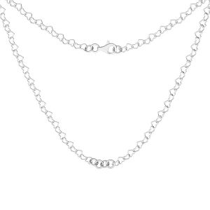 Base de collar, plata 925, S-CHAIN 28 (SRC 045)