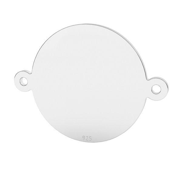 Redondo plato colgante conector plata 925, LK-1522 - 0,50