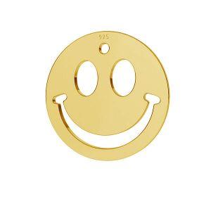 Sonreír emoticon colgante plata 925, LKM-2025