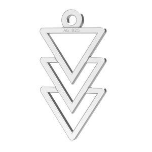 Triángulo colgante plata 925, LKM-2036