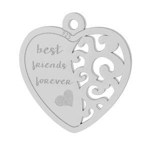 Corazón colgante plata 925, LKM-2043