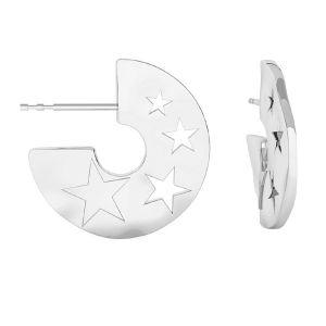 Estrella de mar aretes, plata 925, ODL-00354 KLS