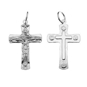 Crucifijo colgante, plata 925, ODL-00323