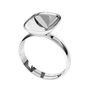 Anillo de plata Cushion Fancy Stone base, OKSV 4568 MM 14,0X 10,0 S-Ring Universal