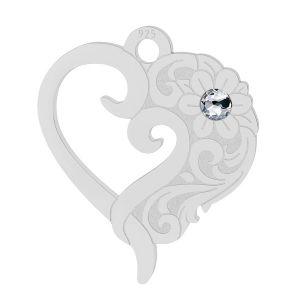 Corazón colgante (2058 SS 7), LK-2112 - 0,50