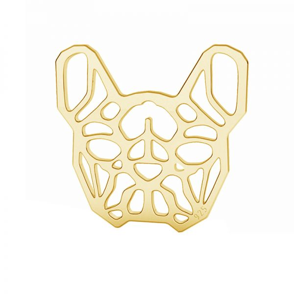 Bulldog francés colgante plata 925, LK-1557 - 0,50