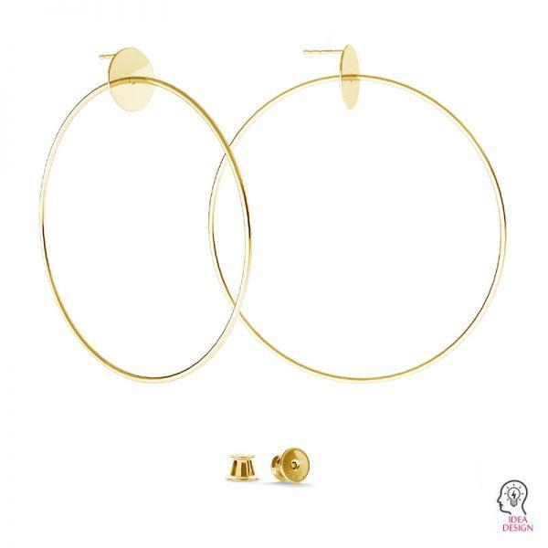 8,0 cm circle earring studs - KLS-25