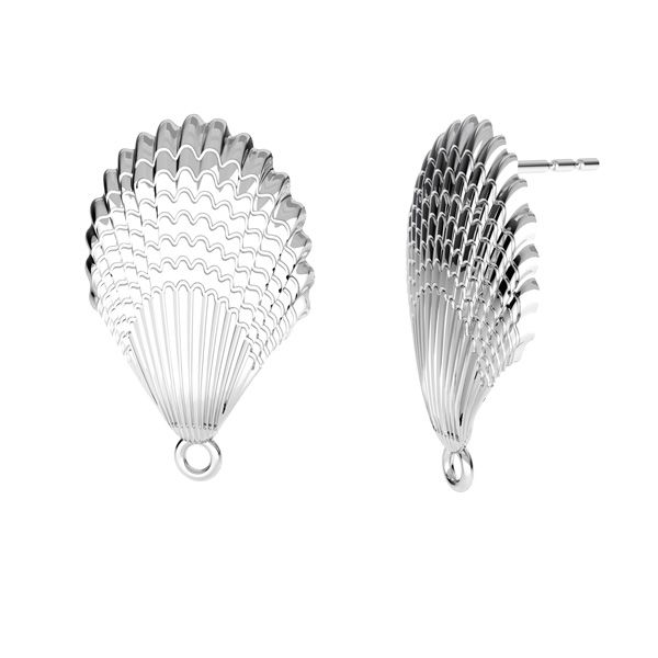 Concha pendientes, plata 925, ODL-00515 KLS