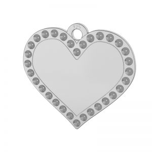 Corazón colgante plata 925, LKM-2139 - 0,80 (1028 PP 4)