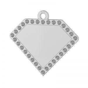 Diamante colgante plata 925, LKM-2142 - 0,80 (1028 PP 4)