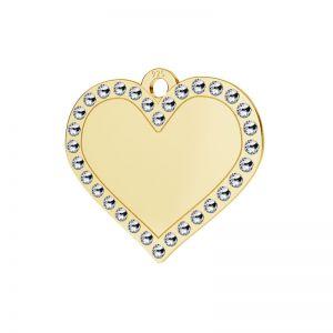 Corazón colgante plata 925, LKM-2139 - 0,80 ver.2