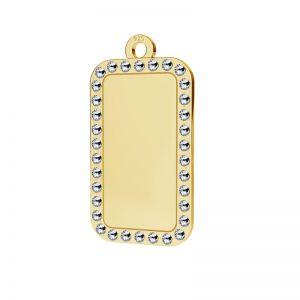 Rectángulo placa de identidad colgante plata 925, LKM-2140 - 0,80 ver.2