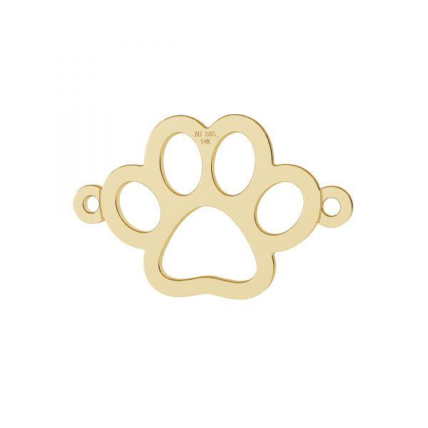 Pata de perro colgante, oro 14K, LKZ-00366 - 0,30