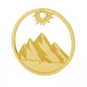 Montaña colgante, plata 925, LKM-2131