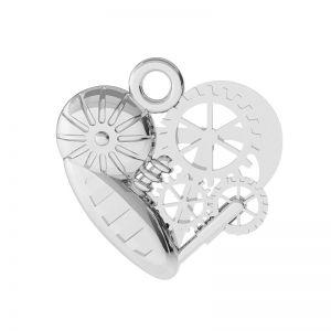 Corazón mecánico colgante plata, ODL-00521