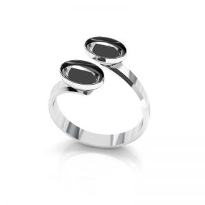 Anillo base de Swarovski Rivoli oval plata, OKSV 4122 MM  8,00 DOUBLE RING
