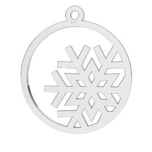 Copo de nieve colgante plata 925, LKM-2257 - 0,50