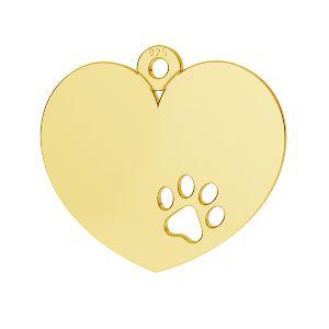 Corazón colgante plata 925, LKM-2295 - 0,50