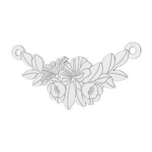Ramo de flores colgante plata, LKM-2245 - 0,50