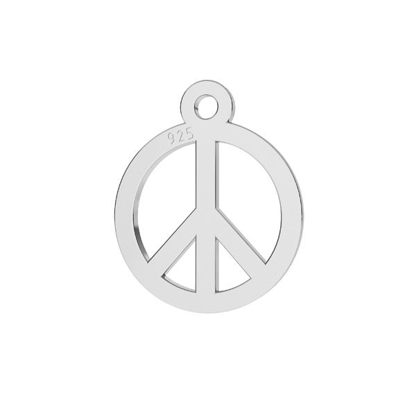 Colgante símbolo de paz, plata 925, LKM-2258 - 0,50