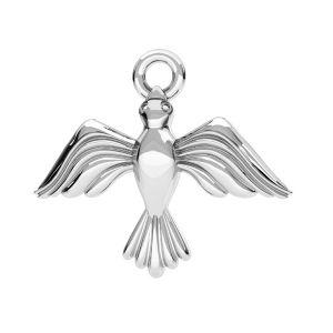 Colgante de pájaro plata, plata 925, ODL-00608