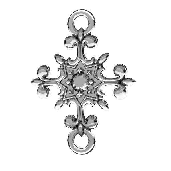 Crucifijo colgante, plata 925, ODL-00600