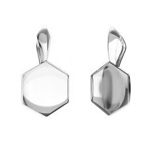 Colgante engastado para cristales hexagonales - OKSV 4683 10MM KRP