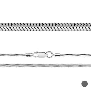 Serpiente flexible cadena*plata 925*CSTD 2,4 (38 cm)