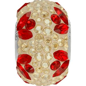 82112 BeCharmed Pavé Flower Bead  - Crystal, Light Siam, Golden Shadow