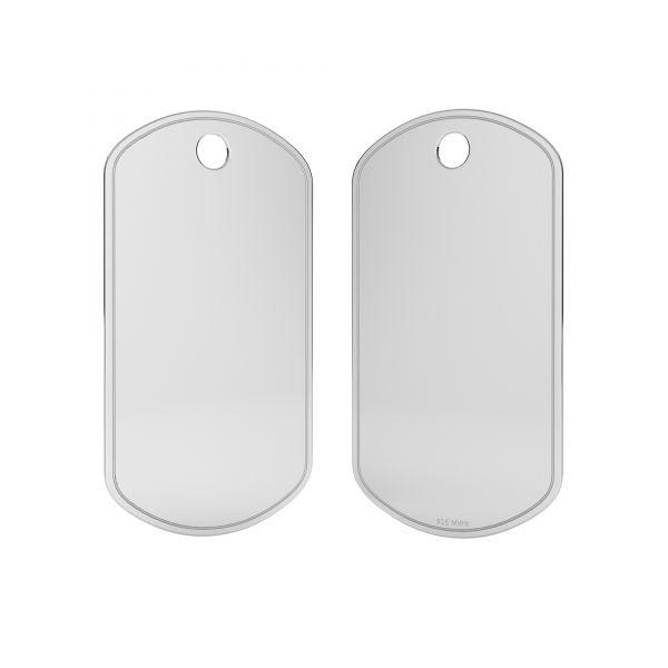 Placa de identidad colgante, LK-1278 - 0,50
