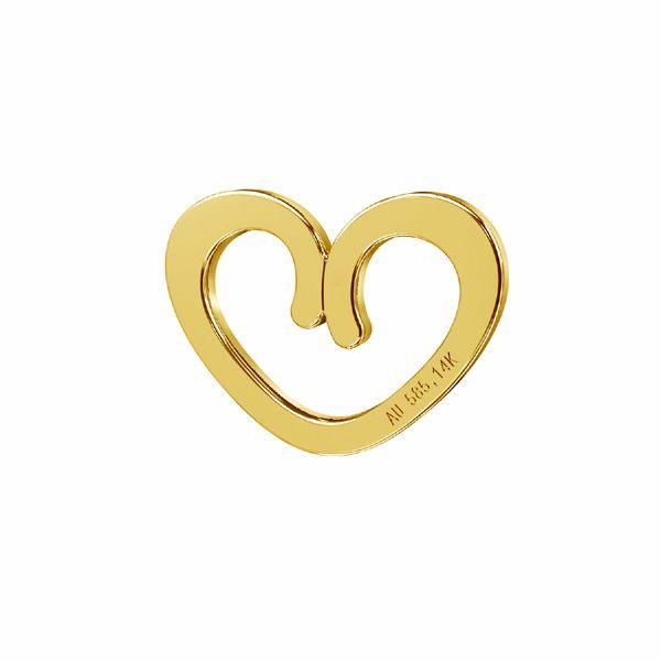 Corazon colgante oro 14K*LKZ-50009 - 03
