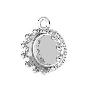 Colgante corona para resina, plata 925, ODL-00680 CON 1